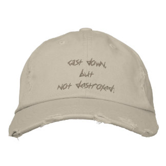cast down, but not destroyed; cap