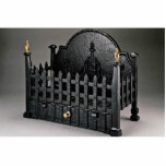 "Cast iron fire basket, portcullis design cutout<br><div class=""desc"">Cast iron fire basket,  portcullis design gift product. A Great Cast iron fire basket,  portcullis design product.</div>"