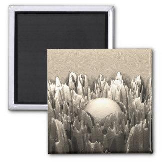 Cast Iron Fractal 2 Inch Square Magnet