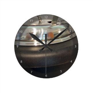 Cast Iron soup kettle Round Clock