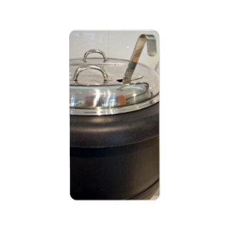 Cast Iron soup kettle Address Label