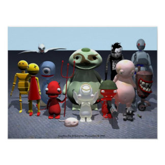 Cast of 3D Characters Poster