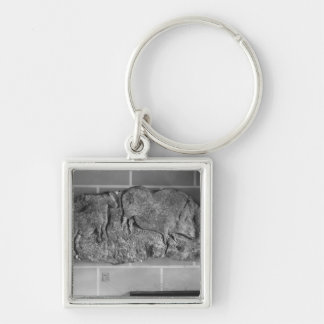 Cast of a frieze of animals from Le Roc de Sers Keychain