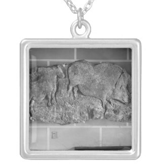 Cast of a frieze of animals from Le Roc de Sers Silver Plated Necklace
