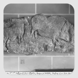 Cast of a frieze of animals from Le Roc de Sers Square Sticker