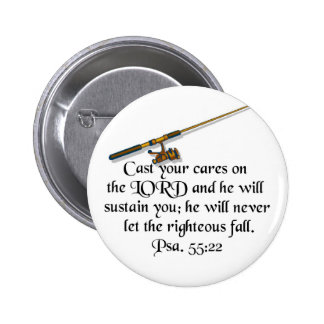 Cast your care 2 inch round button