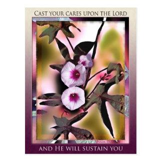 Cast Your Cares postcard