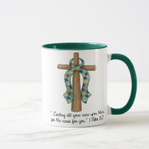 Cast Your Cares Upon Him, Autism Mug