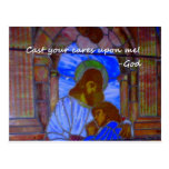 Cast Your Cares Upon Me Post Card