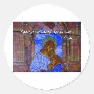 Cast Your Cares Upon Me Sticker