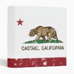 Castaic California Republic Bear Distressed 3 Ring Binders