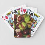 CASTAÑAS: Naipes de las castañas de la buena suert Baraja Cartas De Poker