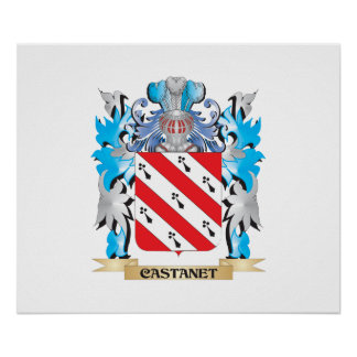 Castanet Coat of Arms - Family Crest Print