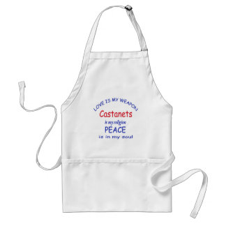 Castanets is my religion adult apron