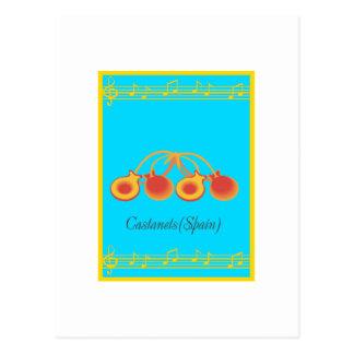 castanets postcard