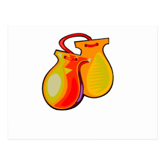 Castanets Yellow Pair Postcard