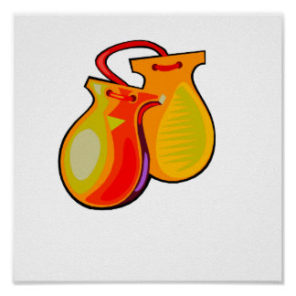 Castanets Yellow Pair Posters