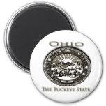 Castaño de Indias del sello del estado de Ohio Iman Para Frigorífico