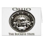 Castaño de Indias del sello del estado de Ohio Tarjeta