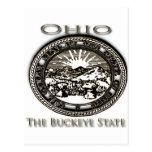 Castaño de Indias del sello del estado de Ohio Postales