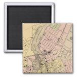 Castaño, mapa de Lewiston Imán De Frigorifico