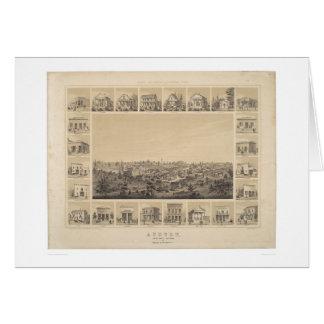 Castaños, mapa panorámico de California 1857 Tarjeta De Felicitación