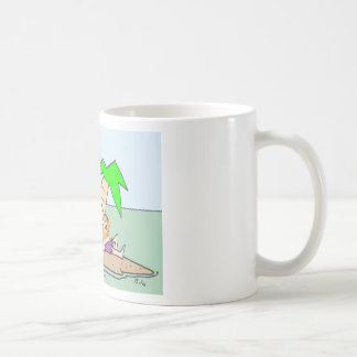 Castaway thinks about his Bernie Madoff investment Coffee Mug