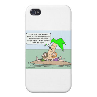 Castaway thinks about his Bernie Madoff investment iPhone 4 Case
