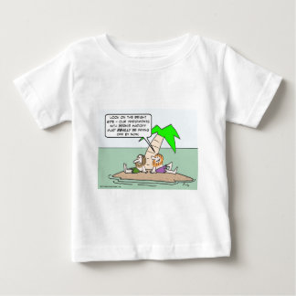 Castaway thinks about his Bernie Madoff investment T-shirt