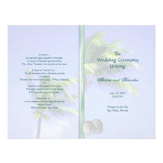 Castaway Tropical Island Wedding Program Template