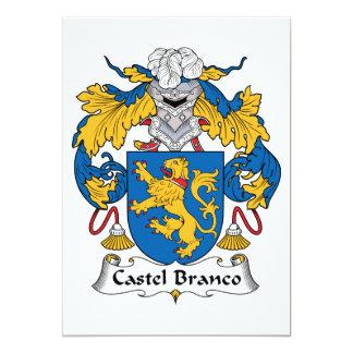 Castel Branco Family Crest 5x7 Paper Invitation Card