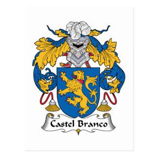 Castel Branco Family Crest Postcard