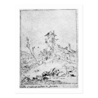 Castel Cogolo Per Andar a Trento (pen & ink on pap Postcard