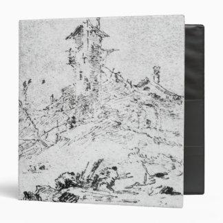 Castel Cogolo por Andar un Trento (pluma y tinta e