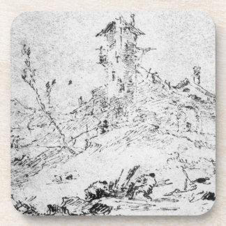 Castel Cogolo por Andar un Trento (pluma y tinta e Posavaso
