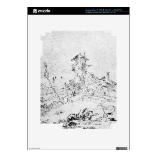Castel Cogolo por Andar un Trento (pluma y tinta e iPad 3 Skin
