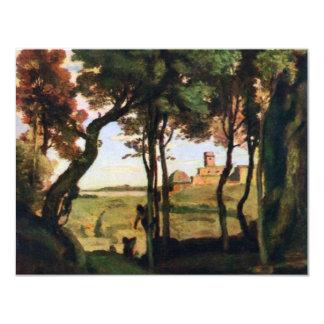 Castel Gandolfo By Corot Jean-Baptiste-Camille (Be 4.25x5.5 Paper Invitation Card