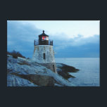 """Castel Hill Ligthouse-Newport, RI canvas print<br><div class=""""desc"""">Decorate the walls of your home with this beautiful canvas print featuring Castle Hill Lighthouse in Newport,  RI.</div>"""