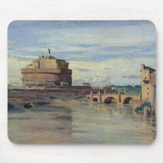 Castel Sant Ángel y el río Tíber, Roma Tapetes De Ratones