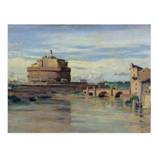 Castel Sant Ángel y el río Tíber, Roma Postal