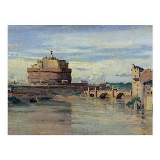 Castel Sant Ángel y el río Tíber, Roma Tarjeta Postal
