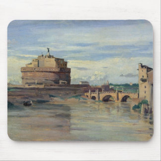 Castel Sant' Angelo and the River Tiber, Rome Mouse Pads