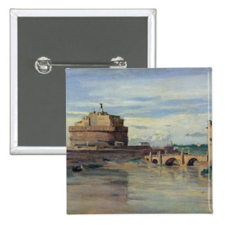 Castel Sant' Angelo and the River Tiber, Rome Pinback Button