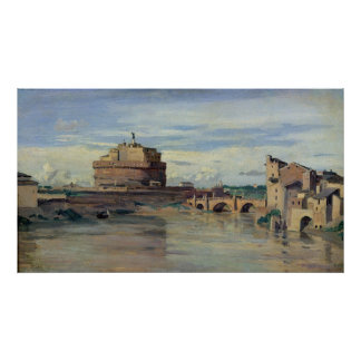 Castel Sant' Angelo and the River Tiber, Rome Poster