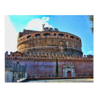 Castel Sant Angelo castle postcard