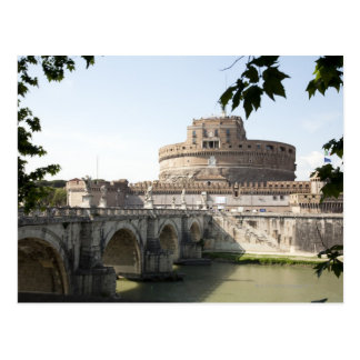 Castel Sant Angelo is situated near the vatican Postcard
