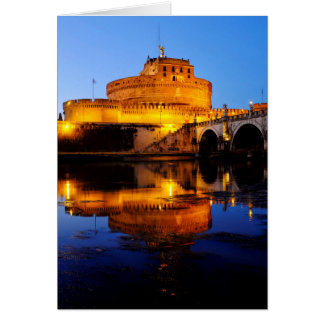Castel Sant'Angelo and the Tiber river Card