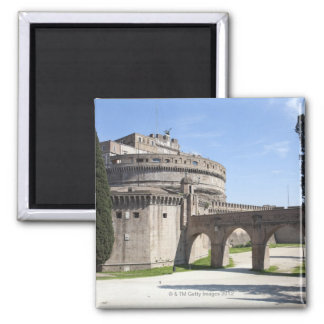 Castel Sant'Angelo is situated near the vatican, 2 2 Inch Square Magnet