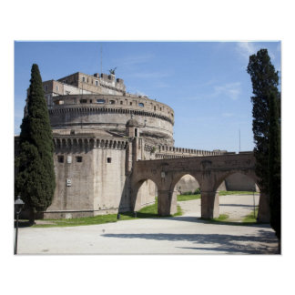 Castel Sant'Angelo is situated near the vatican, 2 Poster