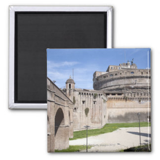 Castel Sant'Angelo is situated near the vatican, 3 2 Inch Square Magnet